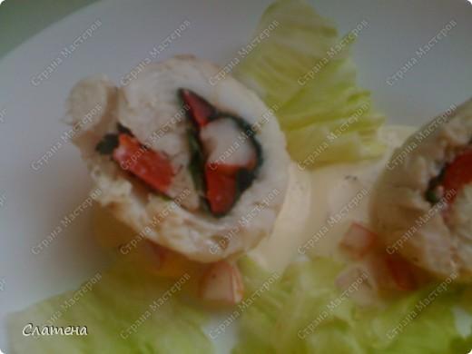 рулетики из филе судака с креветкой и сладким перцем+ МК.  фото 1