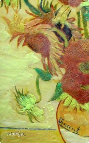 Рисование пластилином(Ван Гог, Подсолнухи). фото 2