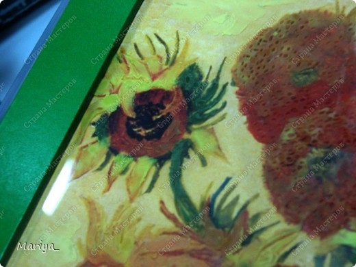 Рисование пластилином(Ван Гог, Подсолнухи). фото 4