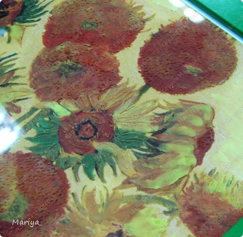 Рисование пластилином(Ван Гог, Подсолнухи). фото 3