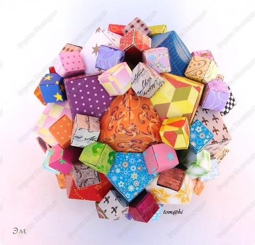 короче говоря............ была у меня мечта, а как известно, мечтам свойственно сбываться)  и вот она осуществилась, принимайте результат)) хочу предупредить сразу,фотографий будет много, очень много))  Columbus Cube (20+60) Designer: David Mitchell Parts: 480  Paper:6*6,3*3 cm  Final: 15 cm  фото 2