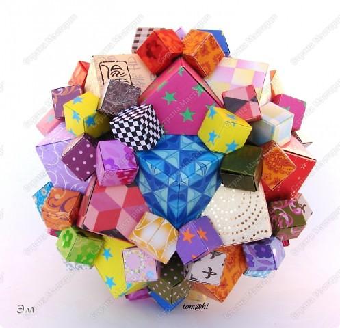 короче говоря............ была у меня мечта, а как известно, мечтам свойственно сбываться)  и вот она осуществилась, принимайте результат)) хочу предупредить сразу,фотографий будет много, очень много))  Columbus Cube (20+60) Designer: David Mitchell Parts: 480  Paper:6*6,3*3 cm  Final: 15 cm  фото 1