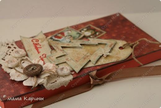 Подготовка к НГ продолжается!!!!!  Предаставляю вашему вниманию мою новую шоколадницу!!!! (делала на заказ для воспитателя в д/с)...надеюсь понравиться!!!!  захотелось попробовать сделать винтажный НГ...незнаю получилось или нет? фото 7