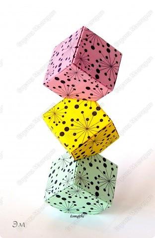 короче говоря............ была у меня мечта, а как известно, мечтам свойственно сбываться)  и вот она осуществилась, принимайте результат)) хочу предупредить сразу,фотографий будет много, очень много))  Columbus Cube (20+60) Designer: David Mitchell Parts: 480  Paper:6*6,3*3 cm  Final: 15 cm  фото 6