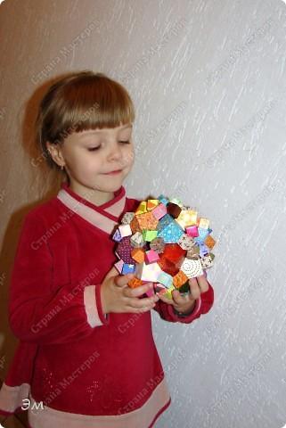 короче говоря............ была у меня мечта, а как известно, мечтам свойственно сбываться)  и вот она осуществилась, принимайте результат)) хочу предупредить сразу,фотографий будет много, очень много))  Columbus Cube (20+60) Designer: David Mitchell Parts: 480  Paper:6*6,3*3 cm  Final: 15 cm  фото 16