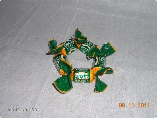 Увидела однажды в интернете ананас из конфет и заболела! Стала интересоваться как это делается, и что это за техника и что еще можно сотворить из конфет.  Оказалось, что это свит-дизайн, который покорил и захлестнул меня всецело!  фото 6