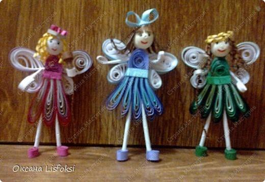 Сделала магнитики для подруг моей дочери. Они студентки эстрадного факультета, вот по-этому феи с микрофонами. Размер куколок - 5 см. фото 1