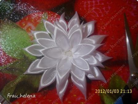 Попробовала заснять процесс изготовления вот такой хризантемы . фото 13
