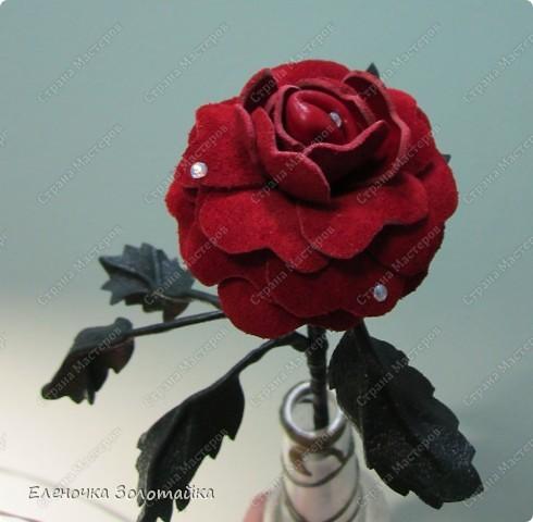 Цветы из кожи фото 1