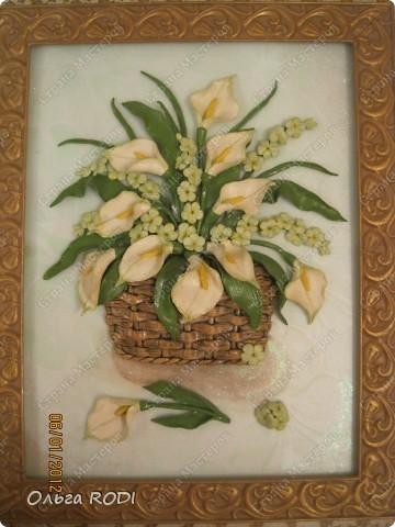 """Доброго времени суток, дорогие мои! Наконец-то закончила свои цветочные пано. Делала на заказ 2 пано в одном стиле. Результат моего долгодела предлагаю оценить вам. Первое пано - """"Розы в корзине"""". фото 13"""
