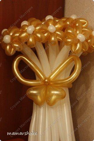 Будем делать такой букетик - из 17 золотых ромашек с бабочкой-бантом и украшением фото 20