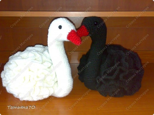 Вязание крючком Лебеди