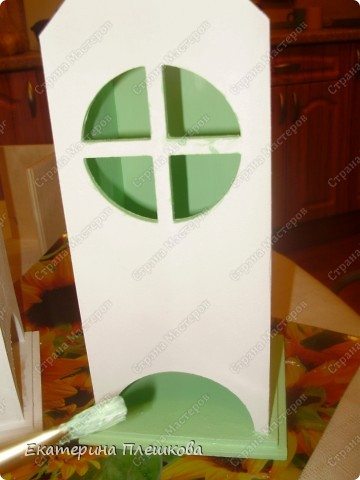 Вот такой домик для чая я сделала в подарок. Предлагаю Вам тоже попробовать сделать. Чудный подарок.  фото 8