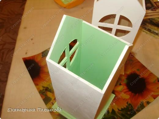 Вот такой домик для чая я сделала в подарок. Предлагаю Вам тоже попробовать сделать. Чудный подарок.  фото 9