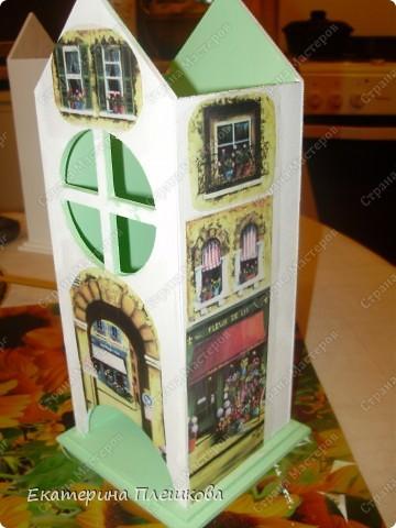 Вот такой домик для чая я сделала в подарок. Предлагаю Вам тоже попробовать сделать. Чудный подарок.  фото 15