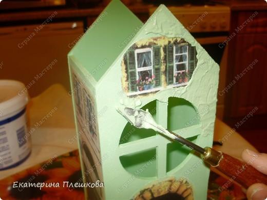 Вот такой домик для чая я сделала в подарок. Предлагаю Вам тоже попробовать сделать. Чудный подарок.  фото 19