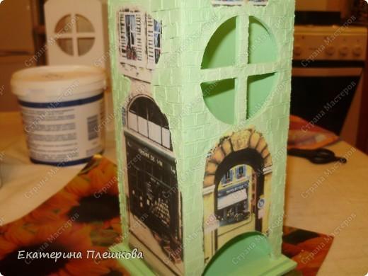 Вот такой домик для чая я сделала в подарок. Предлагаю Вам тоже попробовать сделать. Чудный подарок.  фото 21