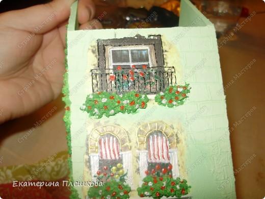 Вот такой домик для чая я сделала в подарок. Предлагаю Вам тоже попробовать сделать. Чудный подарок.  фото 31