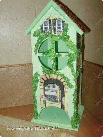 Вот такой домик для чая я сделала в подарок. Предлагаю Вам тоже попробовать сделать. Чудный подарок.  фото 2