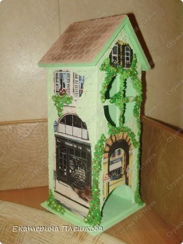 Вот такой домик для чая я сделала в подарок. Предлагаю Вам тоже попробовать сделать. Чудный подарок.  фото 3