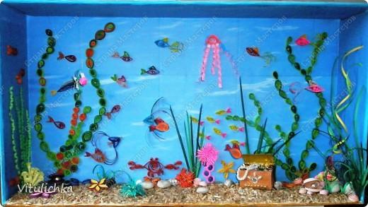 Рисунок квиллинг тайны подводного