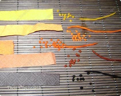 Мастер-класс Аппликация из скрученных жгутиков Картины в технике пейп-арт Мастер-класс Салфетки фото 12