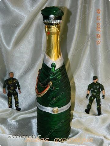 Бутылка 23 февраля своими руками