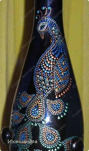 Вот такой необыкновенный павлин поселился у меня на бутыли... фото 8