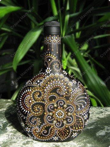 Вот такой необыкновенный павлин поселился у меня на бутыли... фото 23