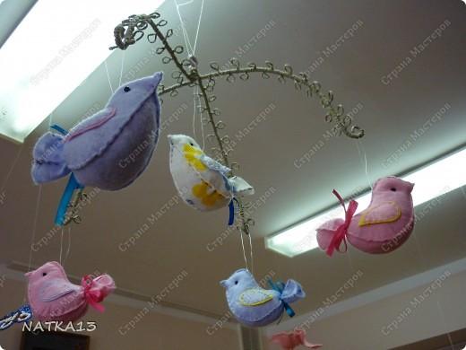 нашила птичек и не знала куда их посадить...придумалось такое панно фото 5