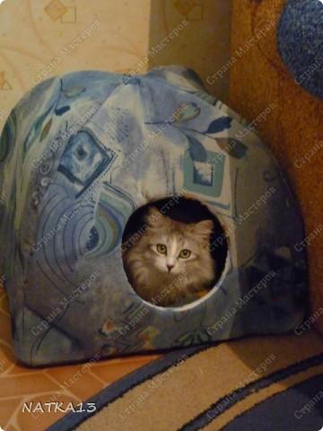 сшила для своего кота домик)))))кот доволен фото 1