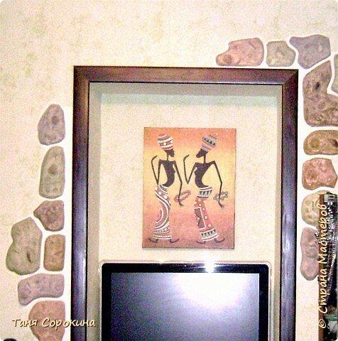 """Друзья! Я вам уже рассказывала, что иногда делаю дизайн в квартирах или пишу картины для дизайна. В этот раз я вам покажу три работы, сделанные  в один интерьер. Они не выдерживались в одном тоне, только в стиле, в этом интерьере все эти цвета присутствуют. Люблю ящериц, их, как вы заметили, у меня много - и на бутылочках, и в рисунках...Такой африканский вариант ящерицы, специально написан """"небрежно"""", холст, акрил. фото 4"""