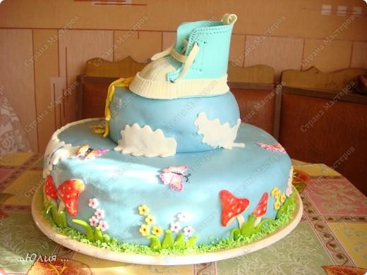 Всем доброе утро !!!! вот такой у меня получился тортик !!!  вес 5,364 кг фото 7