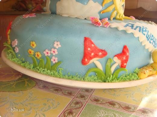 Всем доброе утро !!!! вот такой у меня получился тортик !!!  вес 5,364 кг фото 4