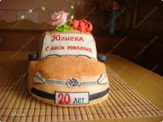 Всем привет!!! вот торт для 20 летней девушки и кстати такую точно ей подарили настоящую машину )))) представляете сколько у нее радости ))) настоящая и сладкая )))) фото 1