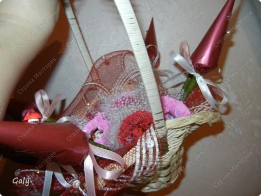 В преддверии 8 марта попросили меня сделать парочку сладких корзиночек фото 6