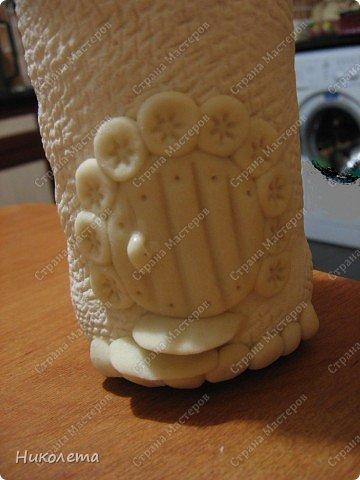 Декор предметов Мастер-класс День рождения Лепка Как я делаю Домик для гномиков  Бутылки стеклянные Тесто соленое фото 6