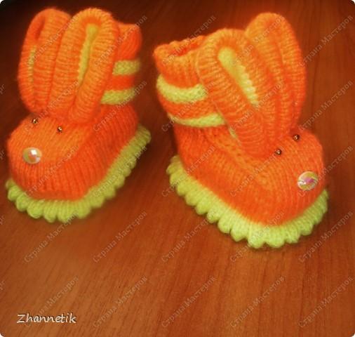 пинетки-зайчата фото 2