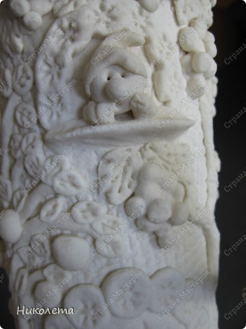 Декор предметов Мастер-класс День рождения Лепка Как я делаю Домик для гномиков  Бутылки стеклянные Тесто соленое фото 15
