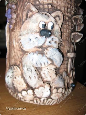 Декор предметов Мастер-класс День рождения Лепка Как я делаю Домик для гномиков  Бутылки стеклянные Тесто соленое фото 21