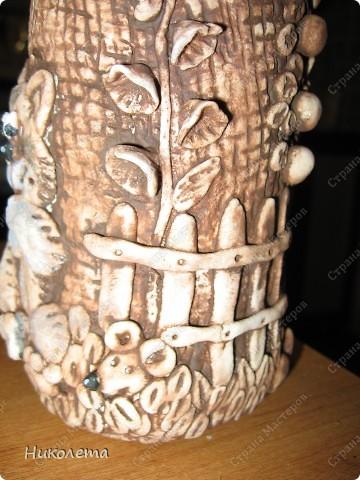 Декор предметов Мастер-класс День рождения Лепка Как я делаю Домик для гномиков  Бутылки стеклянные Тесто соленое фото 22