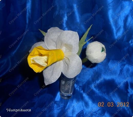 Вот нарисовались еще такие маленькие пустячки у меня из конфеток: смородина, вишенки, и цветочки. Но цветочки уже не мои, а дочерей, делали в подарок учительнице на 8 марта. Белый делала Анюта, ей 13 лет, а поменьше, напоминающий флаг России, сделан из чупа-чупсика Машенькой 6-ти лет. фото 9