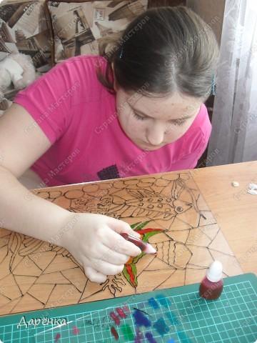 Раньше любила витражи рисовать, а потом на другие техники отвлеклась. И вот - вспомнилось две недели назад. фото 3