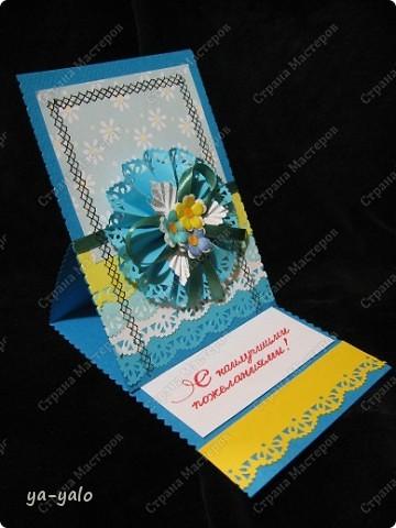 Ещё две открытки к 8 Марта с бумажными кружевными гармошками фото 2