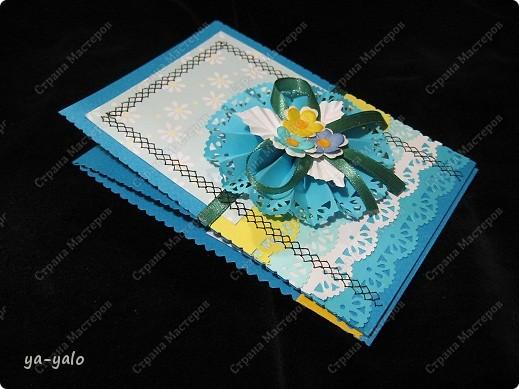 Ещё две открытки к 8 Марта с бумажными кружевными гармошками фото 3