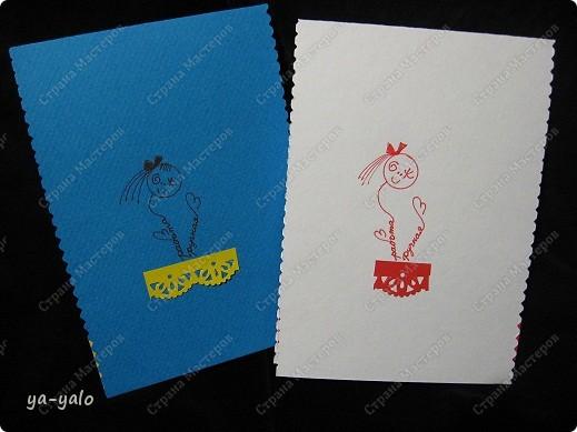 Ещё две открытки к 8 Марта с бумажными кружевными гармошками фото 10