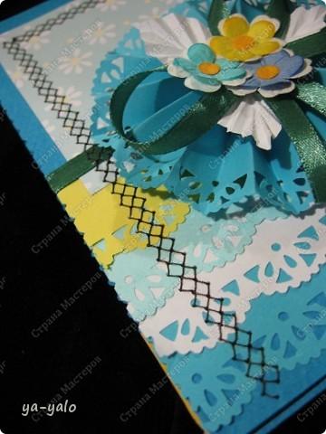 Ещё две открытки к 8 Марта с бумажными кружевными гармошками фото 4