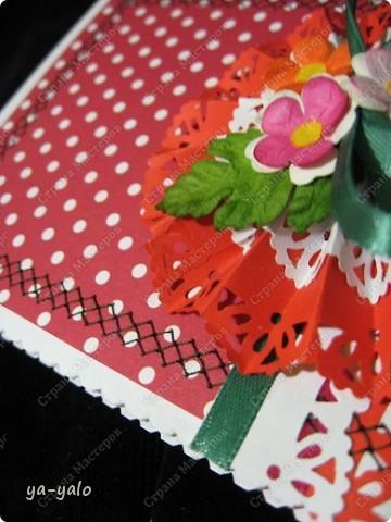 Ещё две открытки к 8 Марта с бумажными кружевными гармошками фото 9