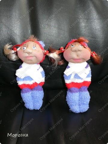 Это сестрички Маша и Даша. Сделаны они по МК ПартизАнки. фото 1