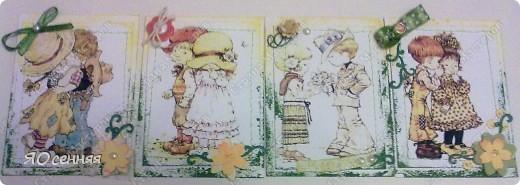"""Новая серия подарочек к 8 марта называется - """"Весна"""" в работе использованы иллюстрации Сары Кей  (качество фото к сожалению не очень) фото 2"""